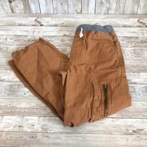 Hanna Andersson boys khaki cargo pants